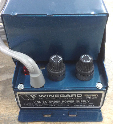 Winegard PS-24 Line Extender Power Supply 117Vac 60Hz 70 Watt, 24Vac 2.1 Amp - MarVac Electronics