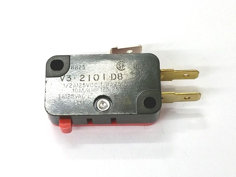 Micro Switch V3-2101-D8 SPDT ON - (ON) Pin Plunger Snap Action Switch 10A - MarVac Electronics
