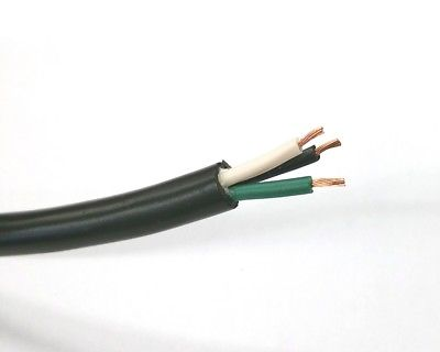 10' 18/3-SJT-105 3 Conductor 18 Gauge Power Cable 60°C E46039 LL14432 3C 18AWG