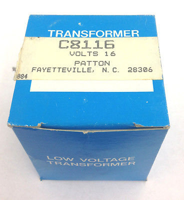 C8116 16V 120V 10VA Low Voltage Transformer UL Listed - MarVac Electronics