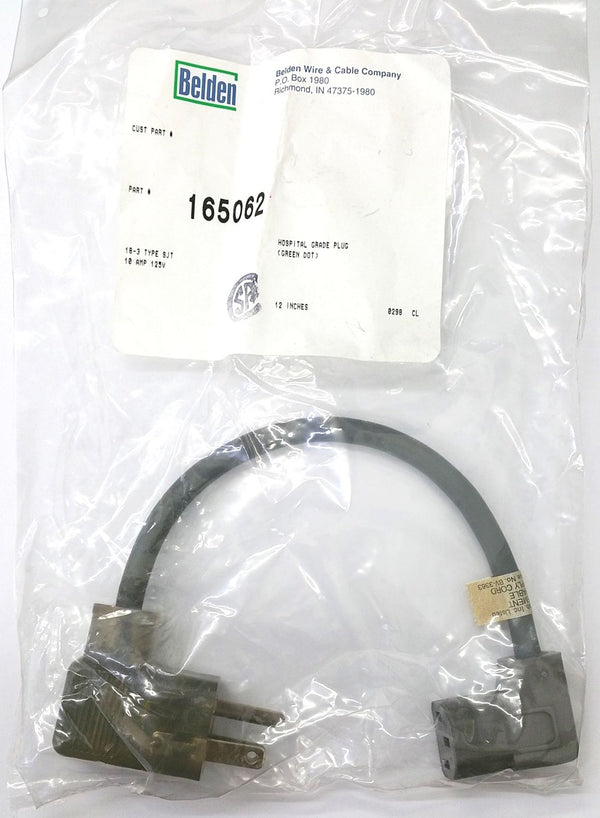 1' Belden 165062 Hospital Grade Power Cord 18/3 SJT 10A @ 125V IEC320 Cable - MarVac Electronics