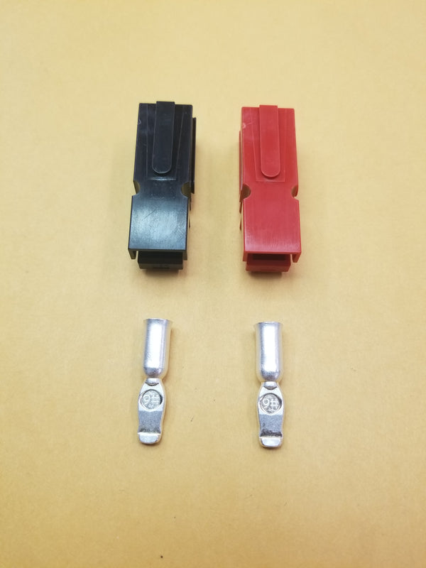 1 Pair of 75A Red and Black Anderson powerpole Connectors with Pins 102104