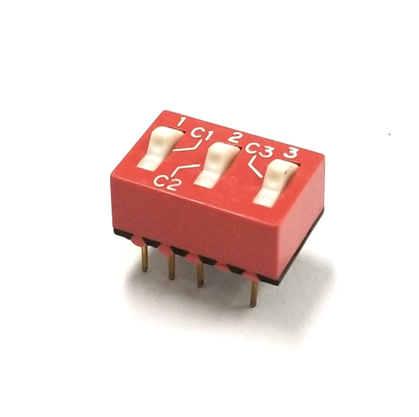 Grayhill # 76SC03T, 3 Postion SPDT DIP Switch, ON-ON Function 150mA@30V DC