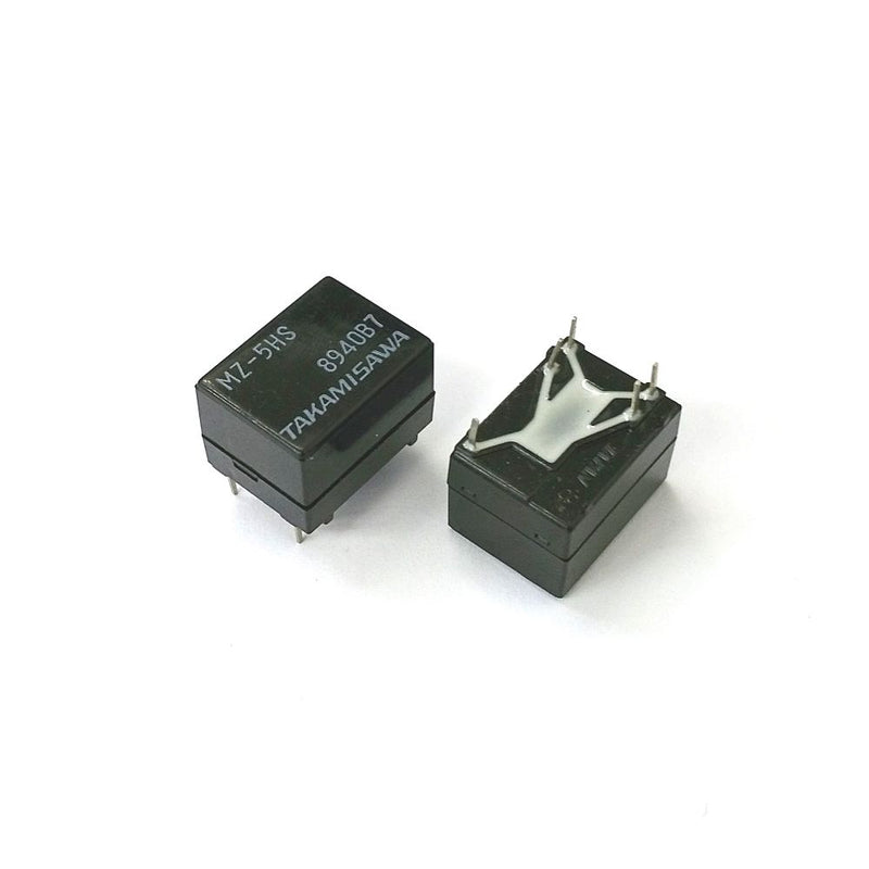 Lot of 2 Takamisawa MZ-5HS SPDT 5V DC, High Sensitivity Coil PC Mount Relay - MarVac Electronics
