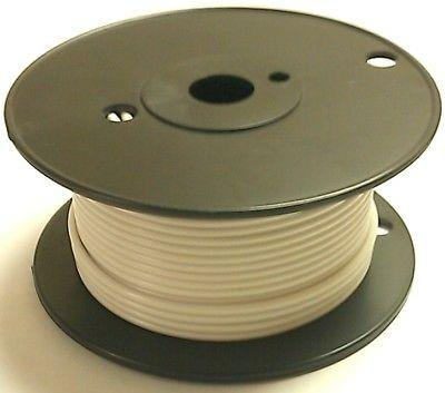 100' Roll 18 Gauge 18AWG WHITE GPT PVC Stranded 50V Automotive Hook Up Wire