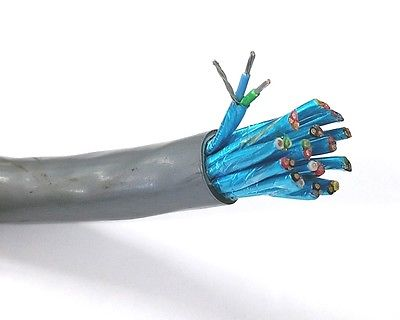 15 Pair 18 Gauge Individually Shielded Paired Cable Per Foot 15pr 18AWG - MarVac Electronics