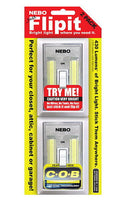 Nebo 6523 Rectangular Flip It, Two-Pack 215 Lumen COB LED Flip Light