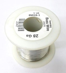 28 Gauge Tinned Copper Bus Wire, 1 Pound Roll (2,067' Approx. Length) 28AWG - MarVac Electronics