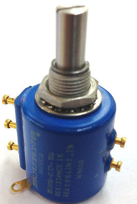 Bourns 3500S-C17-102 Potentiometer 1,000 Ohm 1K Ohm 10 Turn Pot - MarVac Electronics
