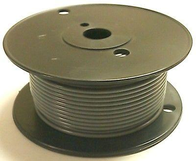 100' Roll 18 Gauge 18AWG GREY GPT PVC Stranded 50V Automotive Hook Up Wire