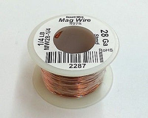 28 Gauge Insulated Magnet Wire, 1/4 Pound Roll (497' Approx. Length) 28AWG - MarVac Electronics