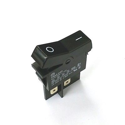 Marquardt 1642.1122 DPST ON-OFF Black Rocker Switch 8A @ 125V AC, 4A @ 250V AC - MarVac Electronics