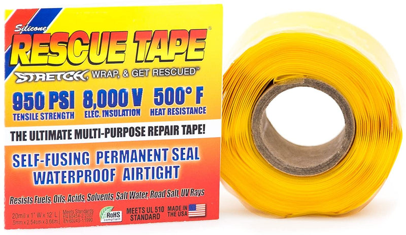 Rescue Tape 05USC05-Yellow Self Fusing Silicone Emergency Repair Tape