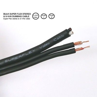25' Philmore Superflex S-Video & Dual RCA Audio Style Cable 25 Foot Length - MarVac Electronics