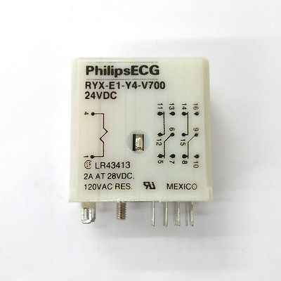 Philips ECG RLY2763 (RYX-E1-Y4-V700) 24 Volt DC Coil, 4PDT Relay - MarVac Electronics
