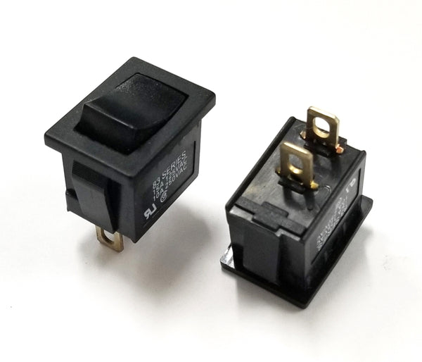 Lot of 2 Joemex # 8316-1121 SPST ON-OFF Rocker Switch 15A @ 125V AC, 19mm x 13mm