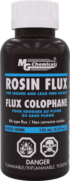 MG Chemicals 835-100mL, 125 mL (4.22 oz.) Bottle of Rosin Flux
