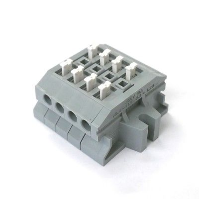 Sato Parts # ML-1700-A-4P 4 Position Screwless Terminal Block ~ 10A @ 300V