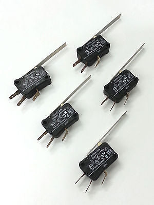 Lot of 5 Otehall 385/5/25 CO ZD56 SPDT ON-ON Snap Action Lever Switch - MarVac Electronics