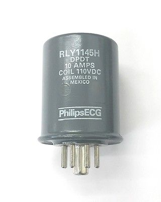 Philips ECG RLY1145H 110 Volt DC Coil, DPDT 8 Pin Hermetically Sealed Relay - MarVac Electronics