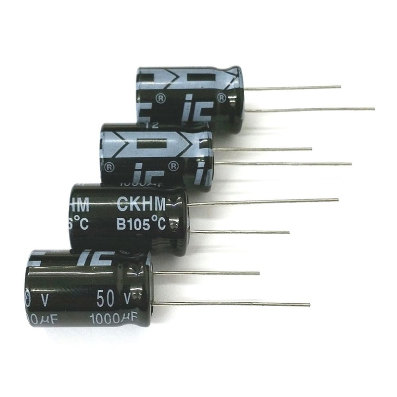 Lot of 4 1,000uF 50V DC 105C Radial Capacitors ~ 16mm x 25mm - MarVac Electronics