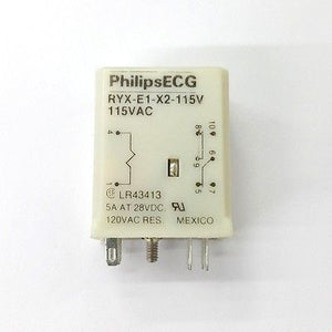 Philips ECG RLY2445 (RYX-E1-X2-115V) 115 Volt AC Coil, DPDT Relay - MarVac Electronics