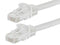 25 Foot WHITE CAT6 Ethernet Patch Cable with Snagless Flexboot Ends MV9826