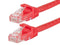 10 Foot RED CAT6 Ethernet Patch Cable with Snagless Flexboot Ends MV9834