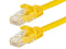 1 Foot YELLOW CAT6 Ethernet Patch Cable with Snagless Flexboot Ends MV9837