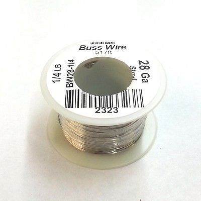 28 Gauge Tinned Copper Bus Wire, 1/4 Pound Roll (517' Approx. Length) 28AWG - MarVac Electronics