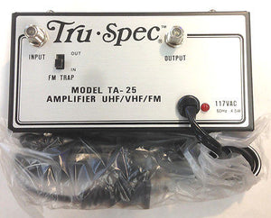 Tru-Spec TA-25 Amplifier UHF/VHF/FM 117VAC 60Hz 4.5w - MarVac Electronics