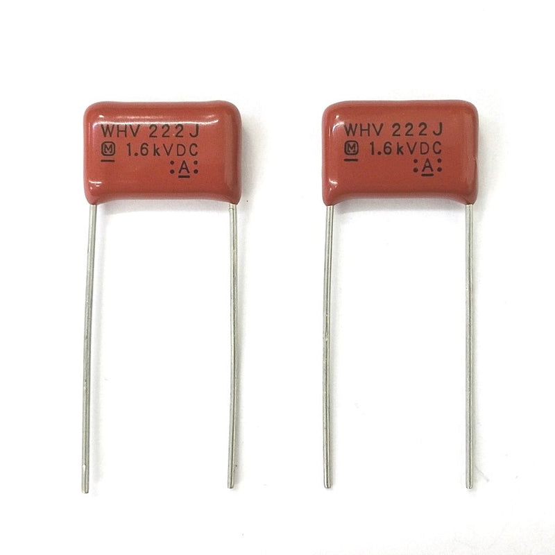 Lot of 2 0.0022uF 1600V Metallized Film Capacitors ~ Panasonic ECWH16222JV - MarVac Electronics