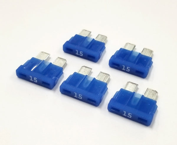 15A 32V Bussmann ATC Type Automotive Blade Fuses, Lot of 5, Blue