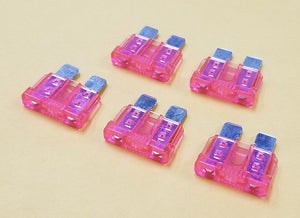 4A, 32V Bussmann ATC Type Automotive Blade Fuses, Lot of 5, Pink