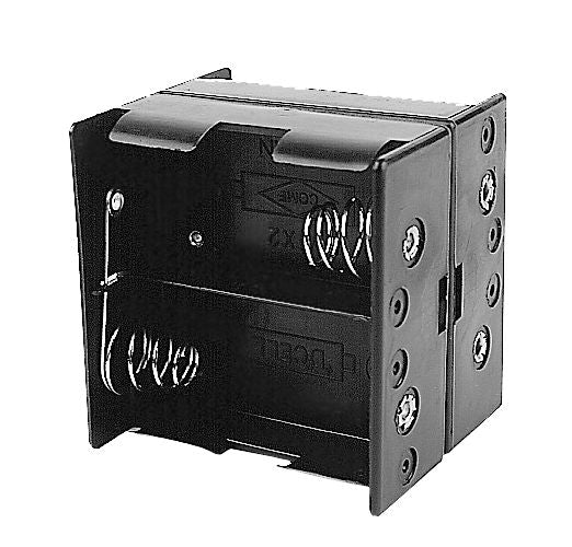 Philmore BH144 Four (4) D Cell (UM-1) Plastic Battery Holder with Solder Lug Connection