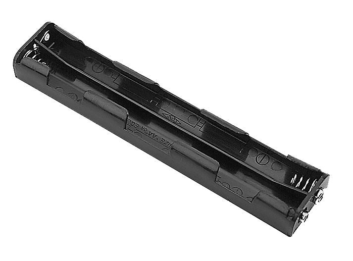 Philmore BH362S Six (6) AA Cell (UM-3) Plastic Battery Holder with Standard Snap Connection