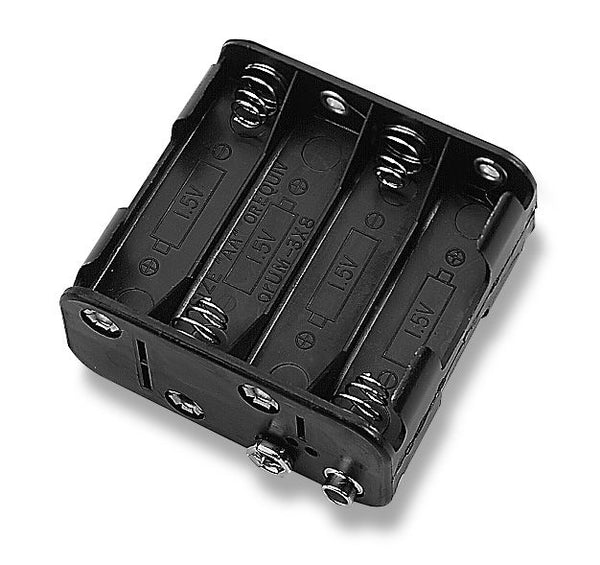 Philmore BH383 Eight (8) AA Cell (UM-3) Plastic Battery Holder with Standard Snap Connection