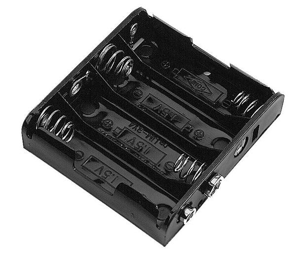 Philmore BH441S Four (4) AAA Cell (UM-4) Plastic Battery Holder with Standard Snap Connection