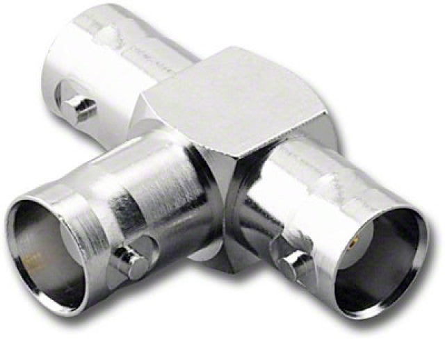 BNC-3375, BNC Female to Female to Female (Jack-Jack-Jack) T Adapter