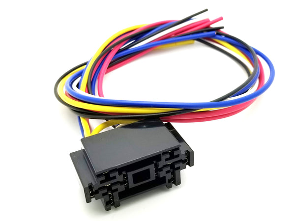 "BRS-008 Dual Pre-Wired Automotive Relay Socket with 24"" Leads"