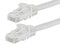 50 Foot WHITE CAT5e Ethernet Patch Cable with Snagless Flexboot Ends MV11348