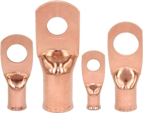 "4 Pack 1/0AWG, 1/2"" Stud Non Insulated HD Copper Ring Lug ~ 1/0 Gauge CL1012-4"