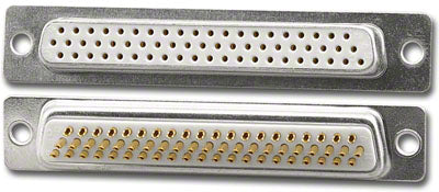 Pan Pacific DHS-62S, 62 Pin Female High Density D-Sub Solder Type Connector