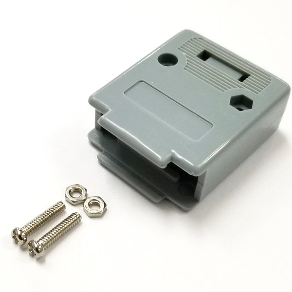 DP-19C Plastic Housing Cover for DB19 Connectors, Screws Included