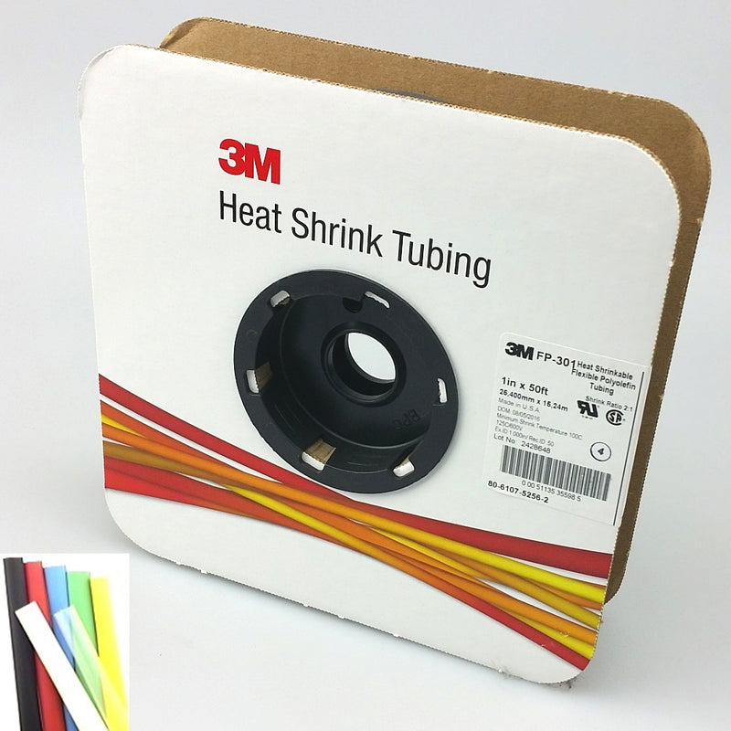 "50 Foot Roll of 1"" Clear 2:1 Heat Shrink ~ 3M FP301"