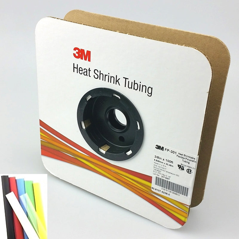 "100 Foot Roll of 3/8"" Clear 2:1 Heat Shrink ~ 3M FP301"