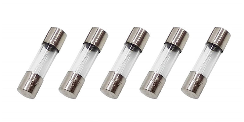 5 Pack of Buss GMA-2.5A, 2.5A 250V Fast Acting (Fast Blow) Glass Body Fuses
