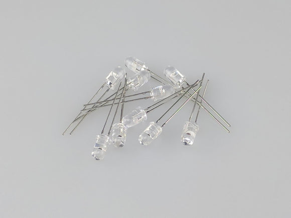 10Pk 5MM Blue LED 3V 20ma MV5MMBL-10