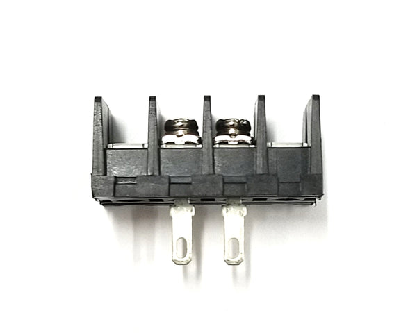 Sato Parts # ML-40-S1AXF-2P 2 Position Feed Through Terminal Block ~ 10A @ 250V