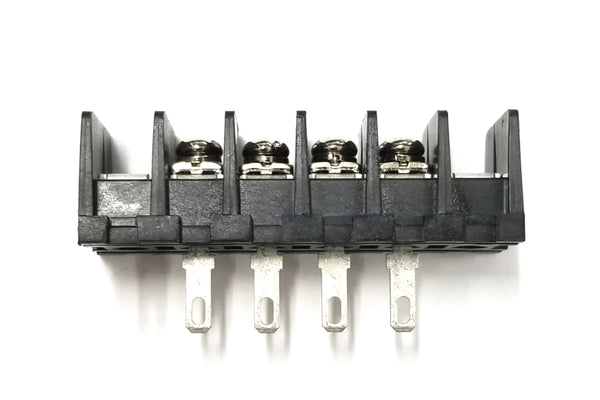 Sato Parts # ML-40-S1AXF-4P 4 Position Feed Through Terminal Block ~ 10A @ 250V